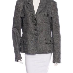 Michael Kors Wool/Silk Tweed Blazer - 10